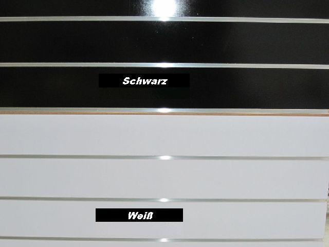 mdf lamellenw nde slatwall mit 7 horizontalen aluschienen. Black Bedroom Furniture Sets. Home Design Ideas