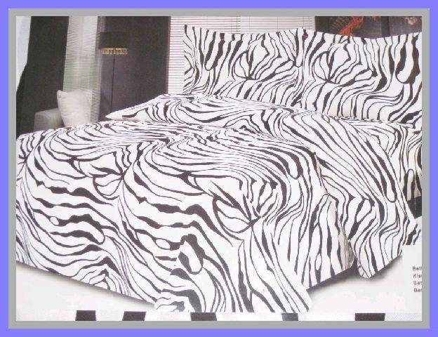 4tlg bettw sche zebra 200x200 2x kissen 50x80 laken ebay. Black Bedroom Furniture Sets. Home Design Ideas